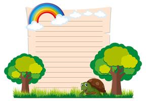 Pappersmall med sköldpadda och träd