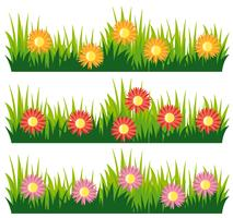 Design nature sans couture avec des fleurs