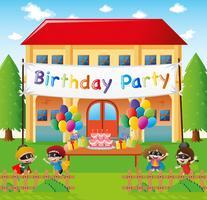 Födelsedagsfest hemma