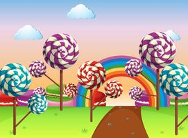 Scene with candy field