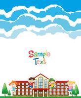 Papierdesign mit Kindern in der Schule