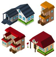 Diseño 3D para casas en diferentes estilos.