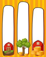 Border template with red barns