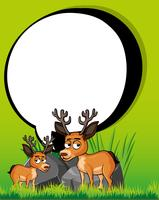 Plantilla de borde con dos ciervos