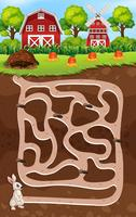 Um jogo de labirinto de coelho