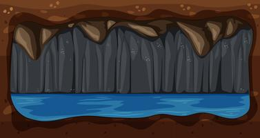 Un vecteur de cave souterraine sombre