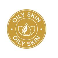 Oily skin icon.