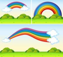 Regenboogvormen over het park