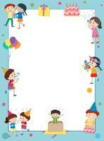 Gränsmall med glada barn på fest