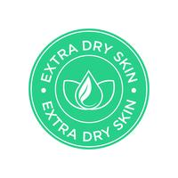 Extra dry skin icon.  vector