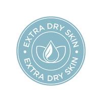 Extra dry skin icon.