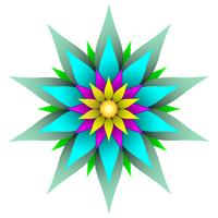 Beautiful symmetric geometric flower vector illustration