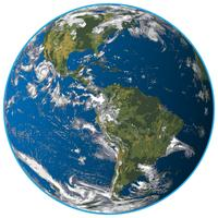 Realistic Earth Isolated Vector Illustration