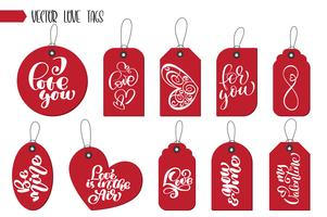Valentinstag Geschenkanhänger und Karten