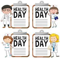 Hälsodagslogotyp med läkare och sjuksköterska