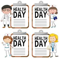 Health day logo with doctor and nurse