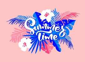 Text Summer  vector