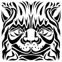 Ornamental Cat's Head Vector Illustration