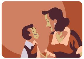 Classic Mothers Day Illustration Vector