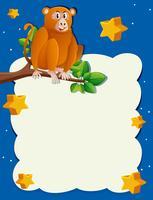 Achtergrondmalplaatje met aap bij nacht