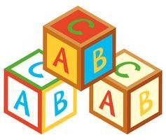 Progettazione 3D per blocchi alfabeto