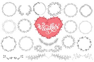 Laurels and wreaths hand drawn vector illustration