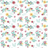 colourful spring flower pattern seamless