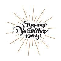 Happy Valentines Day typography poster
