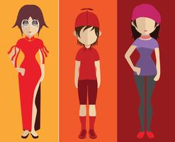 People avatar with full body and torso variations