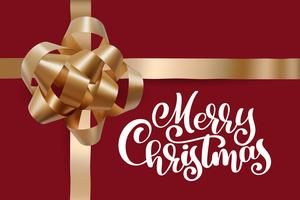 Christmas Greeting Card. Merry Christmas lettering vector