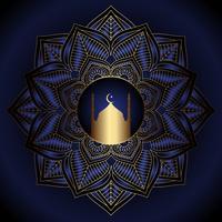 Decoratieve Ramadan Kareem-achtergrond