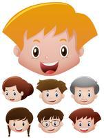 Menschen mit glücklichem Gesicht