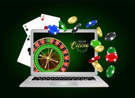 Banner de diseño de casino online.