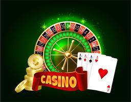 Casino vector concept.