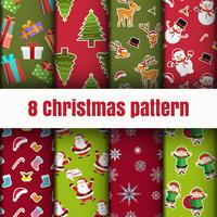 Colorful Christmas pattern wallpaper background