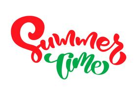 Summer time hand drawn lettering calligraphy vector text