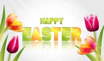 Vector Illustration of Happy Easter Holiday.