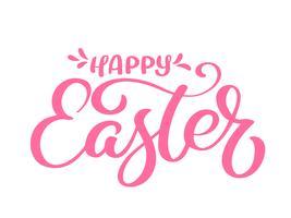 Calligraphie de Pâques Joyeux dessiné main et lettrage stylo pinceau
