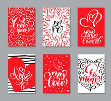 Vector Valentines day cards templates