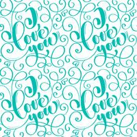 Seamless pattern with hand painted Valentine love and heart