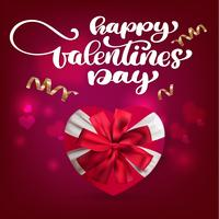 Happy Valentines Day Hand Drawing Vector lettrage design