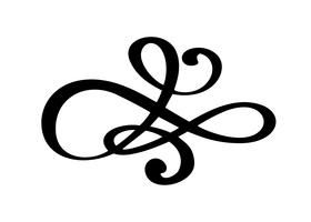 hand drawn flourish Calligraphy elements. Vector illustration