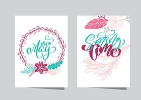Hand drawn lettering Hello May
