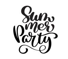 Hand drawn Summer Party