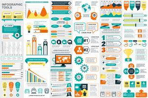 Infographic elementen data visualisatie vector ontwerpsjabloon