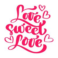 Love Sweet Love Elegant wenskaart ontwerp
