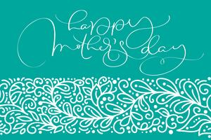 Happy Mother's Day greeting card vector