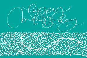 Feliz dia das mães cartão vector