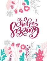 Olá primavera mão