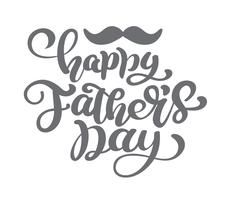 Happy fathers day vector lettering background. Happy Fathers Day calligraphy light banner. Dad my king illustration